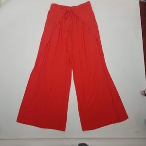 On The Road Abigail Wrap Pants Sz L Orange F9
